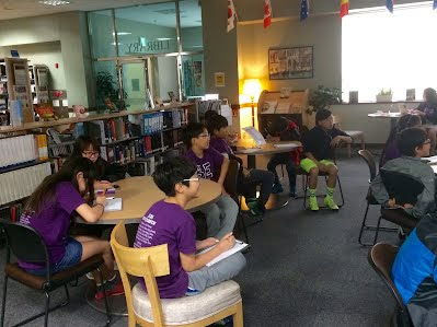 Mrs. Choe preparing 5th grade students for the transition to 6th grade.